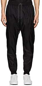 Marcelo Burlon County of Milan MEN'S WING GRAPHIC TECH-TAFFETA TRACK PANTS-BLACK SIZE XL