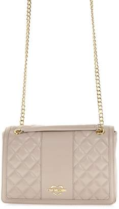 Love Moschino Taupe Quilted Bag In Faux Leather