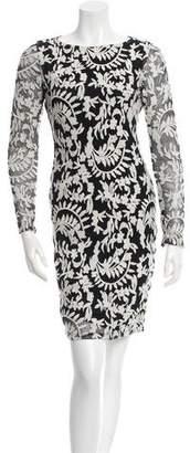 Alice + Olivia Long Sleeve Patterned Dress