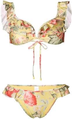 Zimmermann frill trim bikini set