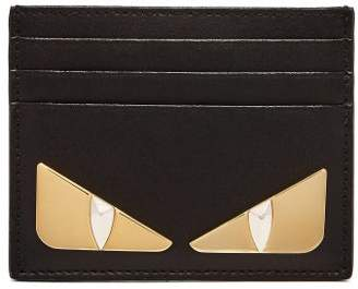 Fendi Bag Bugs Leather Cardholder - Womens - Black Gold