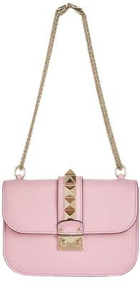 Valentino Small Leather Rockstud Lock Bag