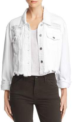 J Brand Cyra Cropped Denim Jacket in Opal Reign