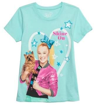Jo-Jo JoJo Siwa JoJo and Bow Bow Glitter Graphic T-Shirt (Little Girls & Big Girls)