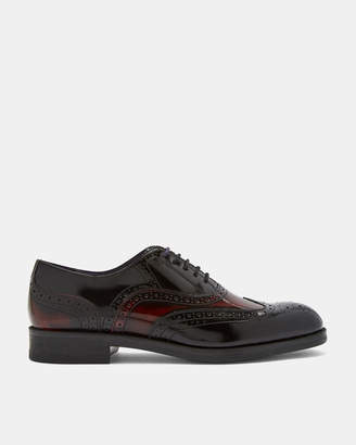 Ted Baker ADIMIR Wing cap patent leather Oxford brogues