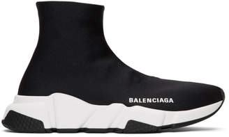 Balenciaga Black Bonded Speed Sneakers