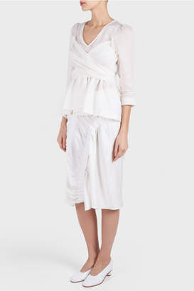 Zero Maria Cornejo Elise Ruched Skirt