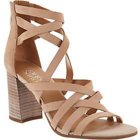 Franco Sarto Leather Block Heel Sandals -Madrid