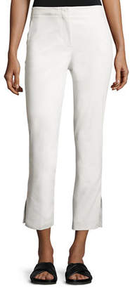 Helmut Lang Cropped Stretch Twill Kick Flare Pants $360 thestylecure.com