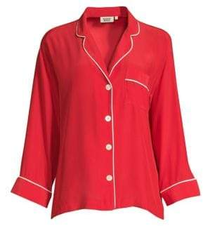 Sleepy Jones Marina Silk Pajama Shirt