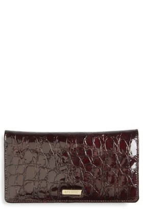 Women's Brahmin Dante Simone Croc Embossed Leather Wallet - Red $100 thestylecure.com