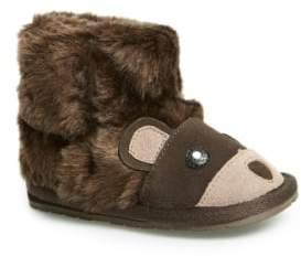 Emu 'Little Creatures - Brown Bear' Merino Wool Boot