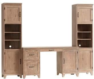 Pottery Barn Teen Hton Desk + Tower Set, Smoked Gray