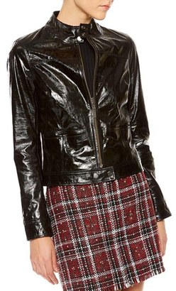 Women's Sanctuary Patent Leather Moto Jacket $399 thestylecure.com