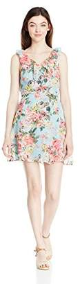 Speechless Women's V Neck Floral Dress