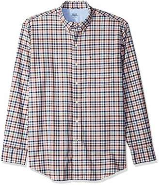 Izod Men's Newport Oxford Plaid Long Sleeve Shirt