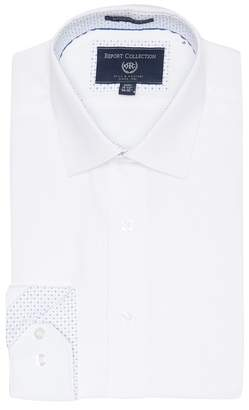 Report Collection Textured Solid Modern Fit Dress Shirt