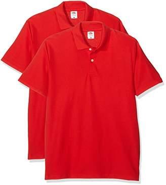 Fruit of the Loom Men's Original Polo T-Shirt,Medium