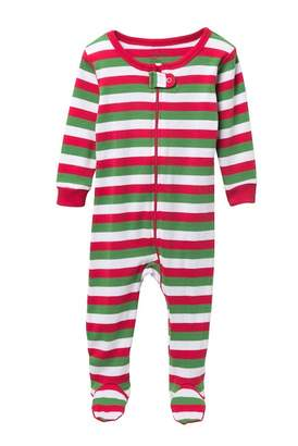 Leveret Striped Footed Sleeper (Baby Boys)