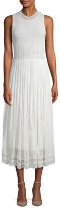 Torn By Ronny Kobo Ebrill Pointelle Midi Dress