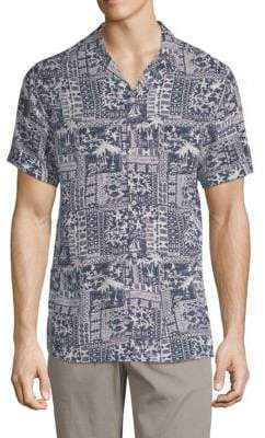 Slate & Stone Beach-Print Camp Shirt