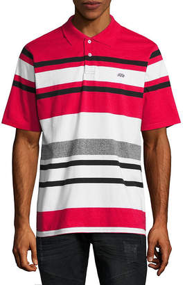 Ecko Unlimited Unltd Short Sleeve Stripe Jersey Polo Shirt