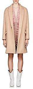 Isabel Marant Women's Filipo Brushed Wool-Cashmere Cocoon Coat - Pink