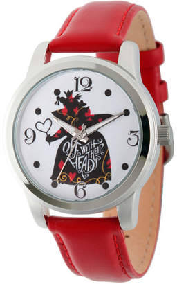 Disney Womens Alice In Wonderland Red Queen Strap Watch