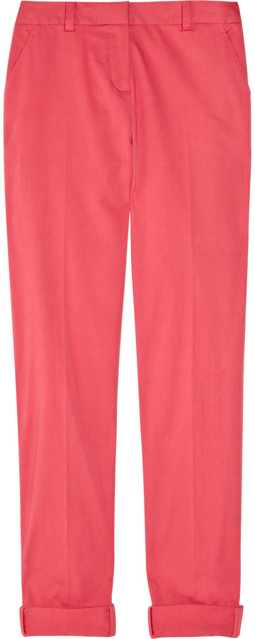 DKNY Cropped stretch-cotton pants