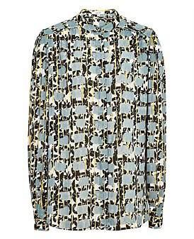 Reiss Karina-Long Sleeve Printed Blouse