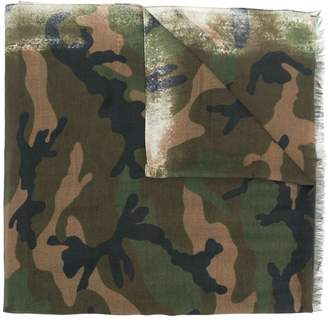 Valentino camouflage branded scarf