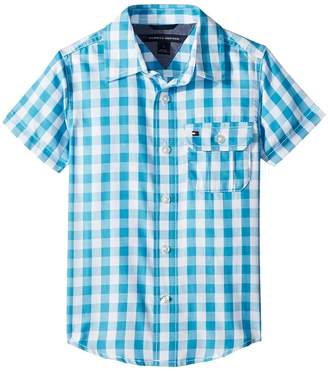 Tommy Hilfiger Short Sleeve Ryan Yarn-Dye Plaid Shirt Boy's Clothing