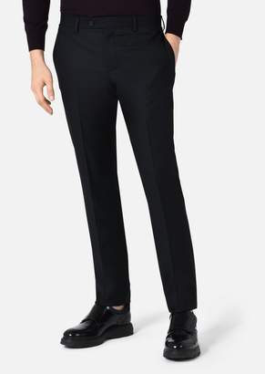 Emporio Armani Slim-Fit Trousers In Tropical Wool