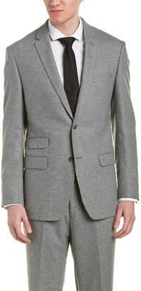 DKNY Dixon Silk & Wool-Blend Suit W/ Flat Front Pant