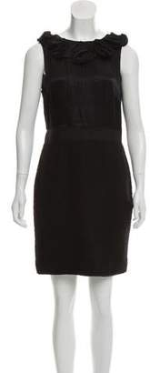 Magaschoni Silk-Accented Wool Dress