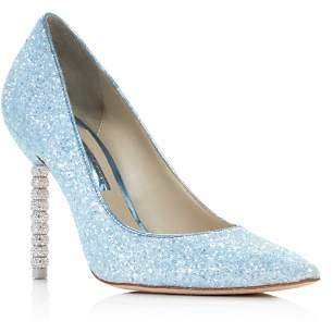 Sophia Webster Women's Coco Crystal Pointed Toe Glitter Leather High-Heel Pumps