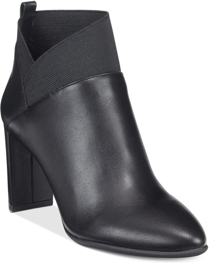 Nine West Nine West Kalette Pointed-Toe Block-Heel Booties