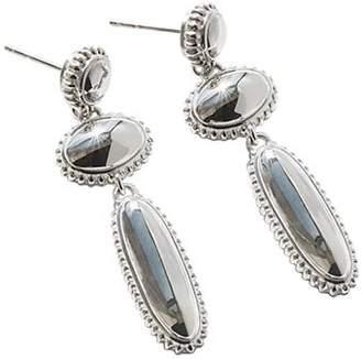 Shinola Sterling Silver Coin Edge Drop Earrings