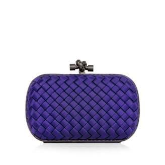 Bottega Veneta Pochette Knot Purple Silk Clutch Bag