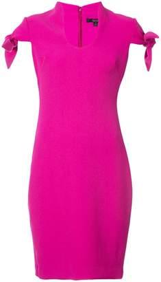 Badgley Mischka fitted midi dress