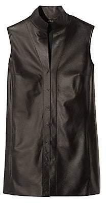 Akris Women's Nappa Leather Sleeveless Blouse