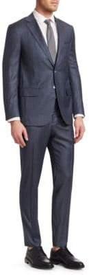 Isaia Tonal Stripe Wool Suit