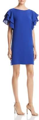 Adrianna Papell Ruffle-Sleeve Shift Dress