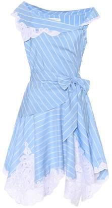 Jonathan Simkhai Off-the-shoulder striped dress