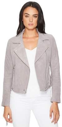 Blank NYC Suede Moto Jacket w/ Fringe Women's Coat