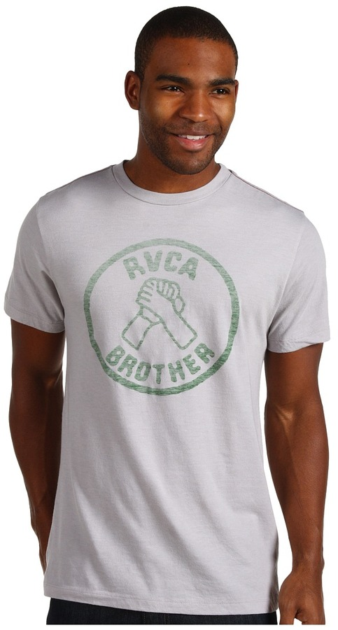 RVCA Brother Tee (Cool Grey) - Apparel