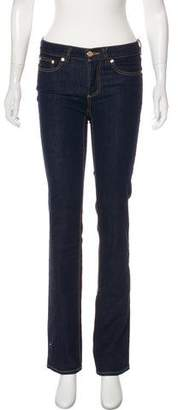 Tory Burch Mid-Rise Straight-Leg Jeans