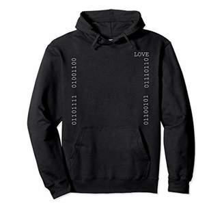 Love Binary Code Geek Long Sleeve Winter Hoodie