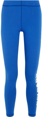 IVY PARK - Printed Stretch-jersey Leggings - Bright blue $40 thestylecure.com
