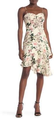Lumiere Hilary Floral Keyhole Midi Dress